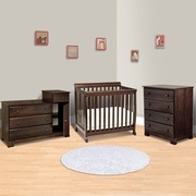 DaVinci 3 Piece Nursery Set - Kalani Mini Crib, 4 Drawer Dresser and Combo Changer/Dresser in Espresso