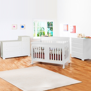 Davinci Porter 3 Piece Nursery Set Convertible Crib Kalani Combo Changer And 4 Drawer