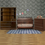 DaVinci 4 Piece Nursery Set - Emily 4 in 1 Convertible Crib with Toddler Rail, Kalani Combo Changer/Dresser with Hutch and Kalani 4 Drawer Dresser in Espresso