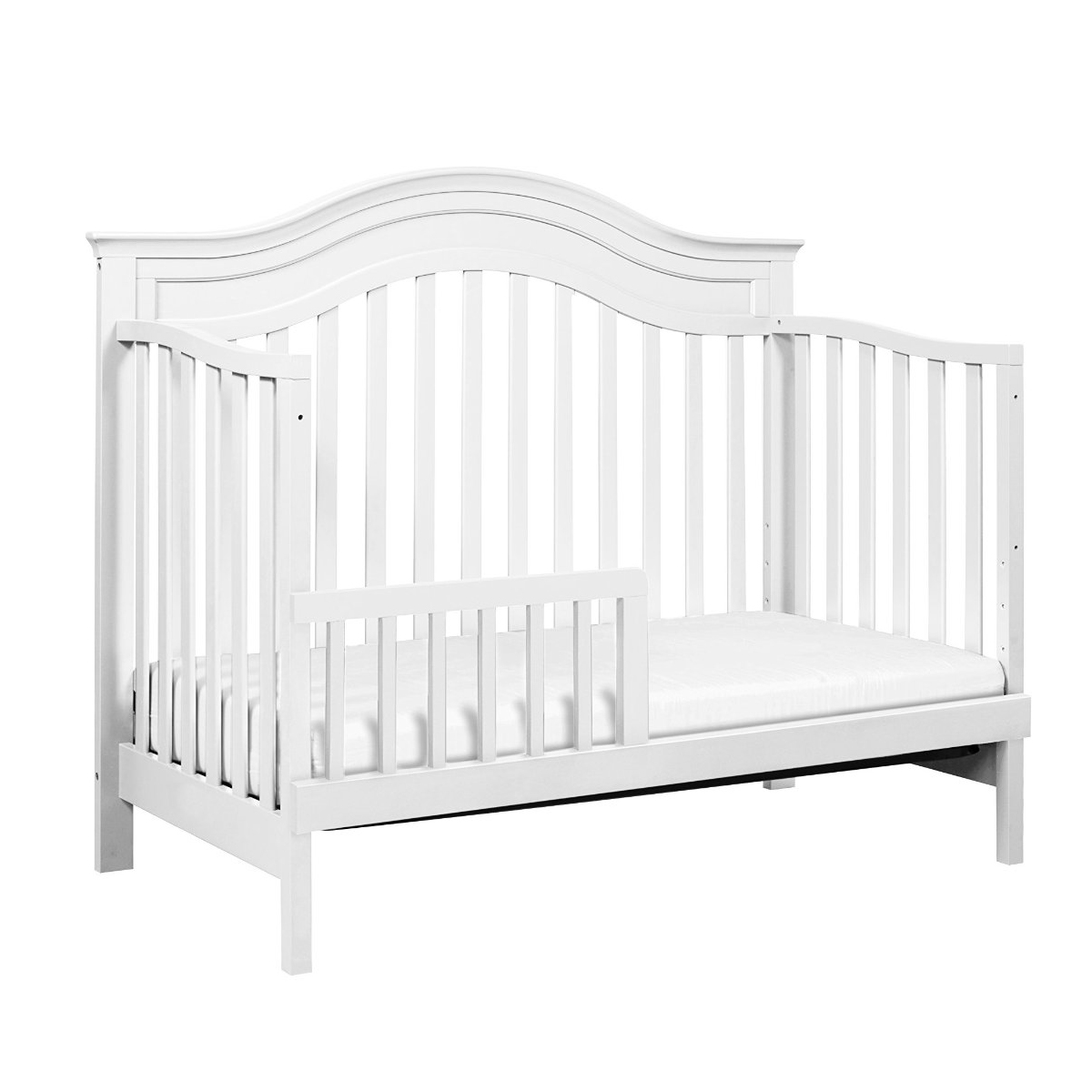 DaVinci Brook 4in1 Convertible Crib with Toddler Rail in White