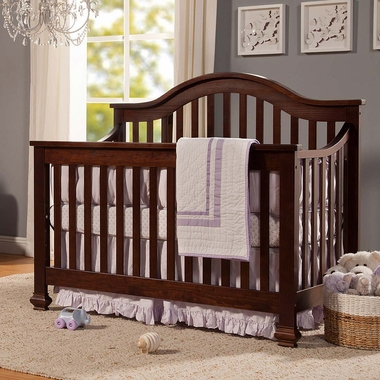 DaVinci Clover 4 In 1 Convertible Crib With Toddler Bed Conversion Kit Espresso