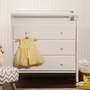 DaVinci Emily 3 Drawer Changer in White