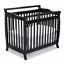 DaVinci Emily Mini 2 in 1 Convertible Crib in Ebony