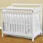 DaVinci Emily Mini 2 in 1 Convertible Crib in White