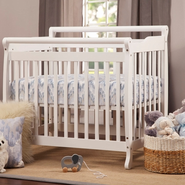 DaVinci Emily Mini 2 in 1 Convertible Crib in White - Click to enlarge