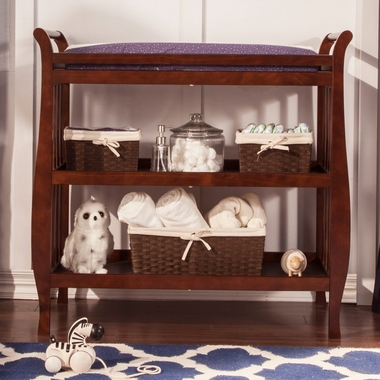 Amazing DaVinci Emily Sleigh Changing Table In Cherry   Click To Enlarge