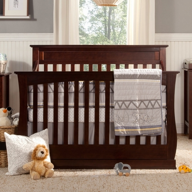DaVinci Glenn 4 In 1 Convertible Crib With Toddler Bed Conversion Kit Espresso