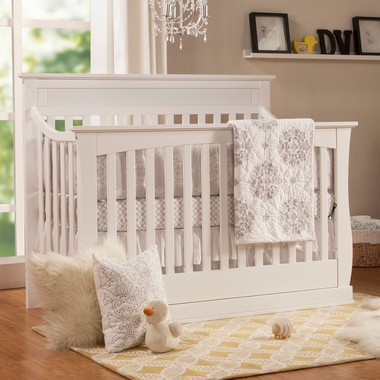 DaVinci Glenn 4 In 1 Convertible Crib With Toddler Bed Conversion Kit White