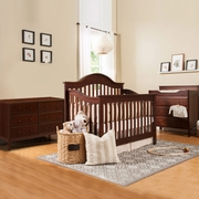 DaVinci Jayden 3 Piece Nursery Set - 4 in 1 Convertible Crib, Changer and 6 Drawer Dresser in Espresso