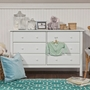 DaVinci Jayden 6 Drawer Double Dresser in White