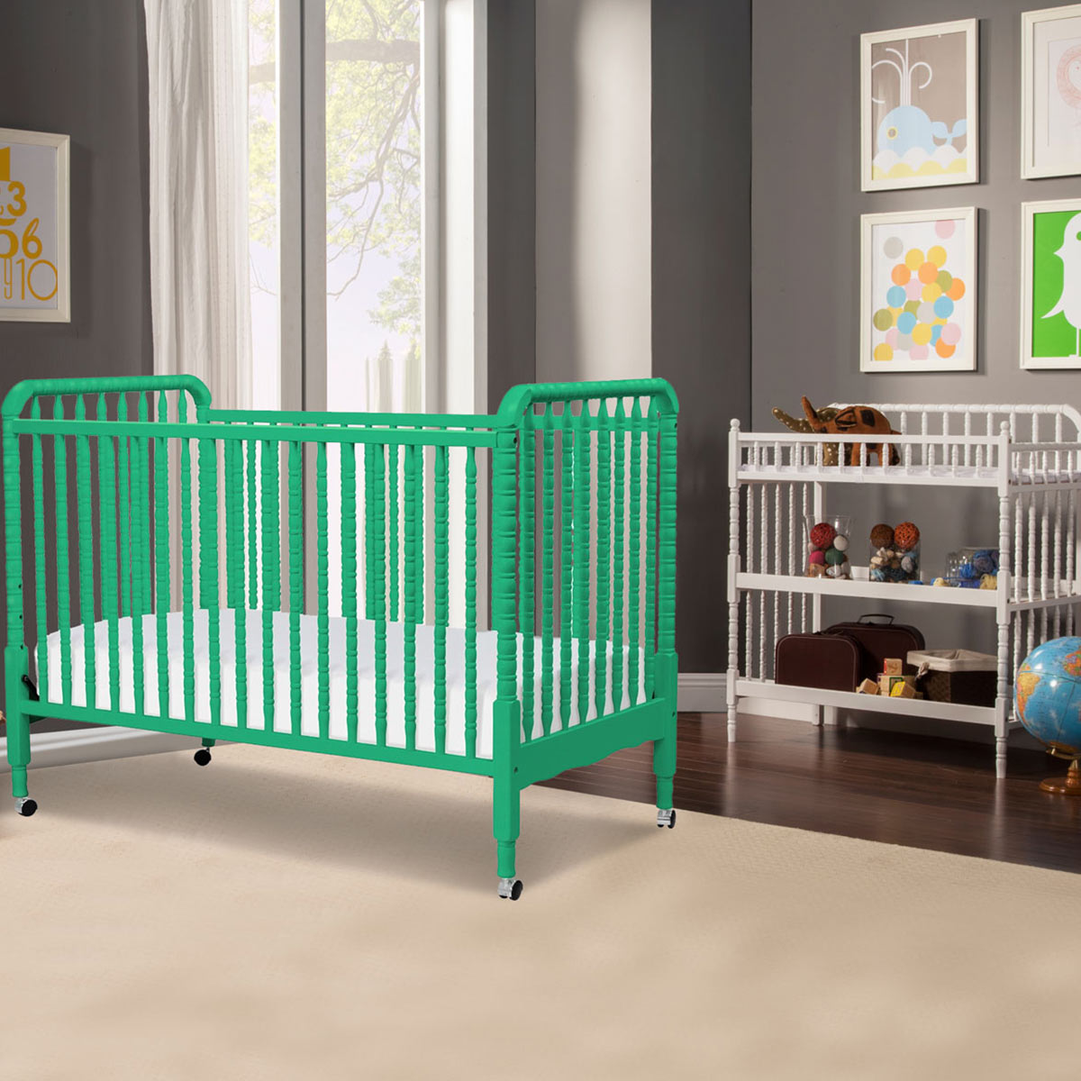 Contemporary white wooden jenny lind crib for your baby to sleep - Davinci 2 Piece Nursery Set Sunshine Jenny Lind Crib And White Changing Table Free Shipping