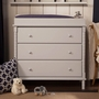 DaVinci Jenny Lind 3-Drawer Changer Dresser in Fog Grey