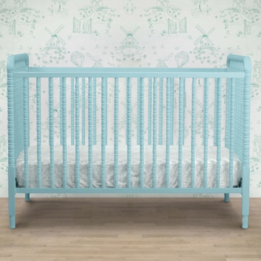 DaVinci Jenny Lind 3-in-1 Convertible Crib with Toddler Bed Conversion Kit in Lagoon - Click to enlarge