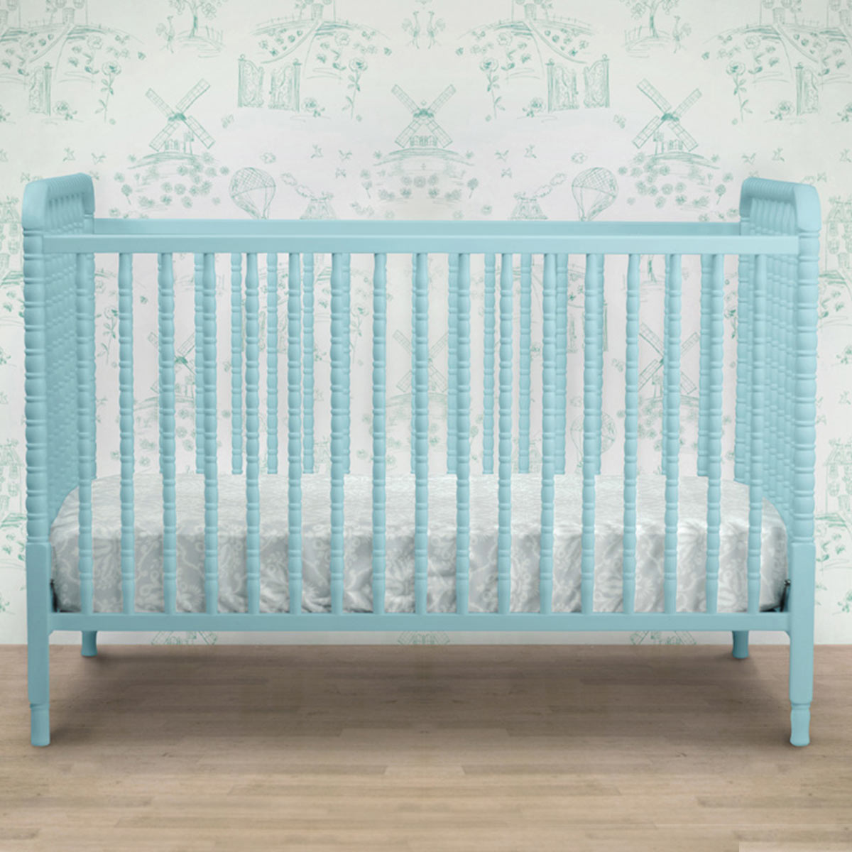 Davinci Jenny Lind 3 In 1 Convertible Crib With Toddler Bed Conversion Kit In Lagoon Free Shipping