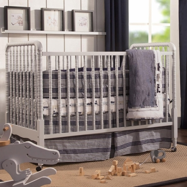 Davinci Jenny Lind Stationary Crib In Fog Grey Free Shipping
