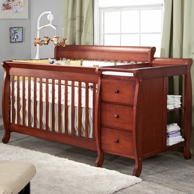 DaVinci Kalani 3 in 1 Convertible Crib and Changer Combo in Cherry - Click to enlarge