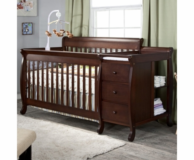 DaVinci Kalani 3 in 1 Convertible Crib and Changer Combo in Espresso