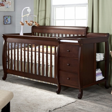 DaVinci Kalani 3 in 1 Convertible Crib and Changer Combo in Espresso - Click to enlarge