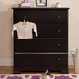 DaVinci Kalani 4 Drawer Dresser in Ebony