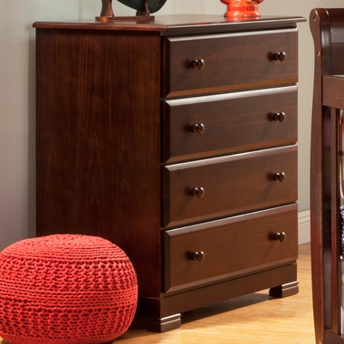 DaVinci Kalani 4 Drawer Dresser in Espresso - Click to enlarge