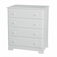 DaVinci Kalani 4 Drawer Dresser in White