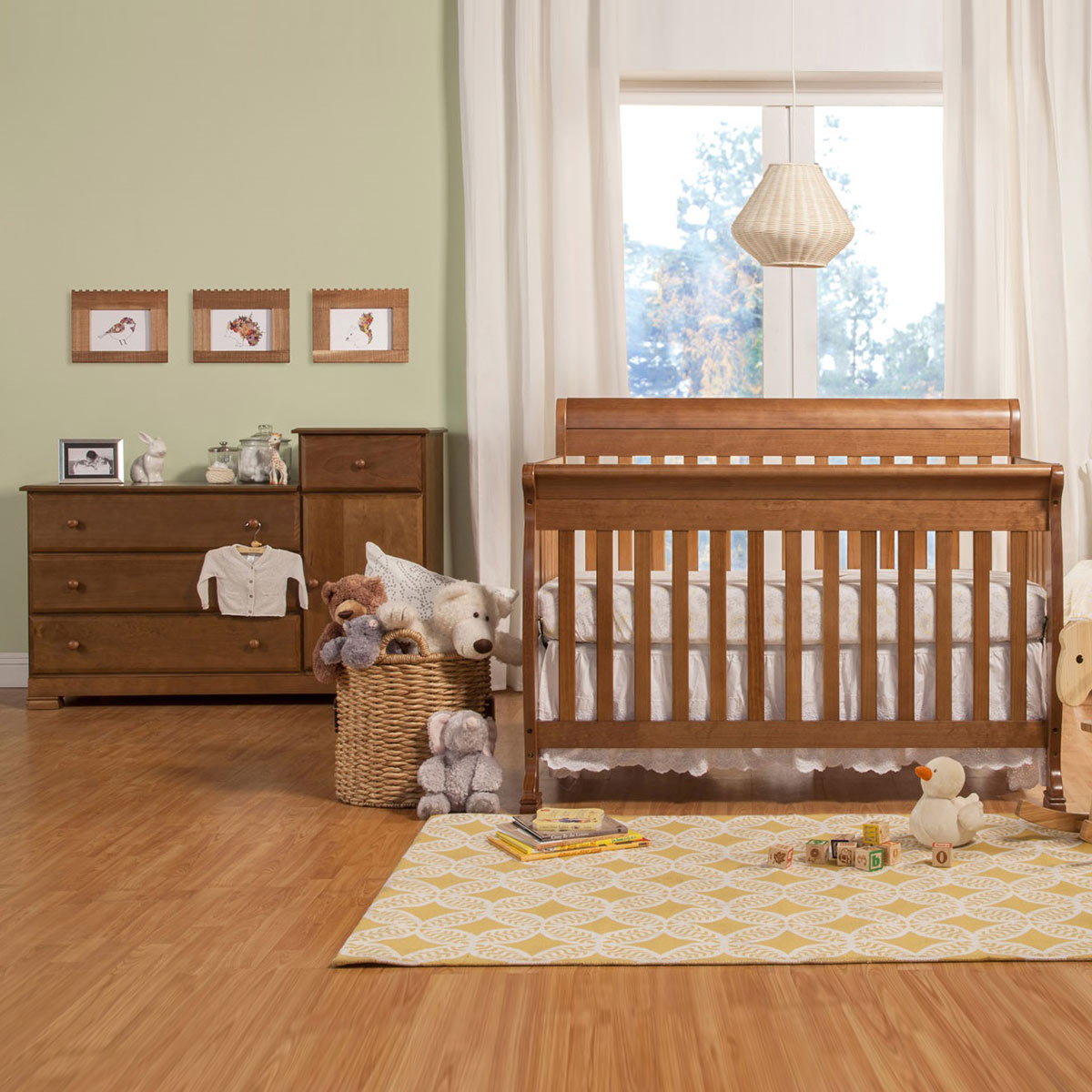 Da Vinci 2 Piece Nursery Set Kalani Convertible Crib Combination Changer White Free Shipping Davinci