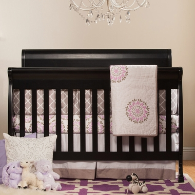 DaVinci Kalani 4 in 1 Convertible Crib in Ebony - Click to enlarge