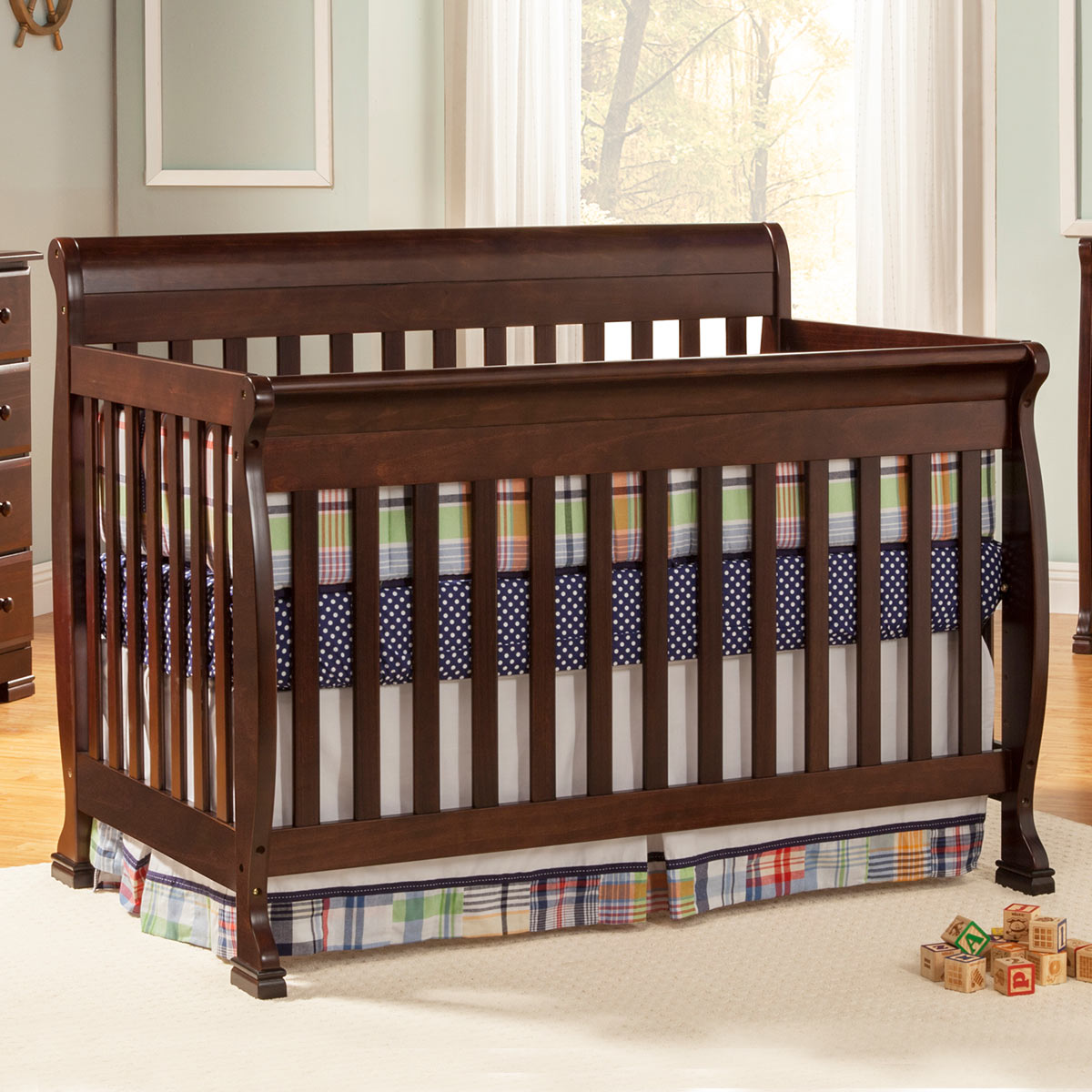 to crib with furnitures in rail baby and w bed convertible gallery davinci kalani nursery natural emily cribs toddler