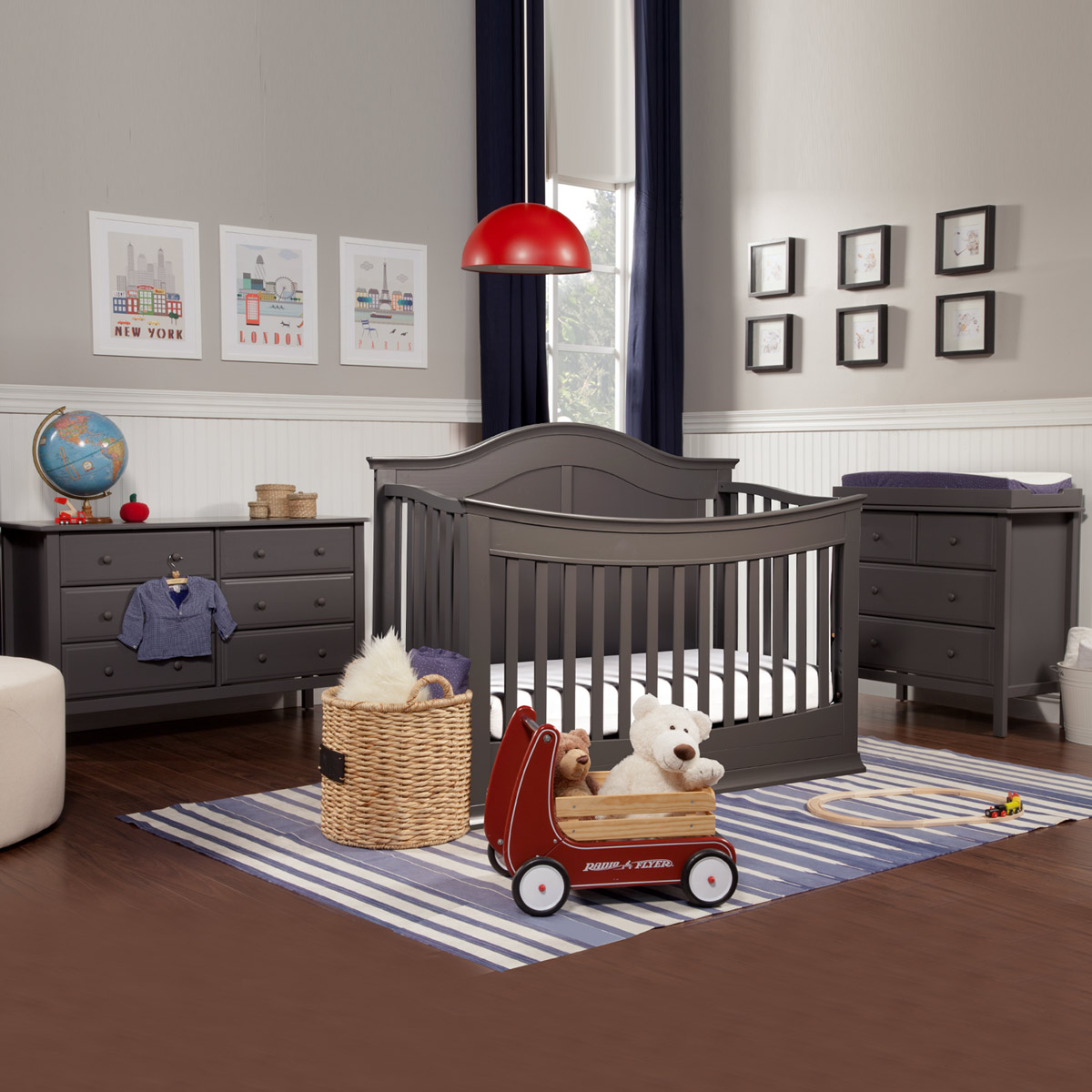 Baby cribs with matching dresser - Davinci Meadow 3 Piece Nursery Set 4 In 1 Convertible Crib Autumn Changer Dresser