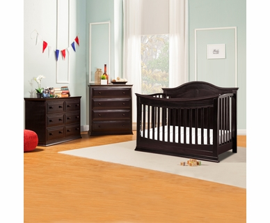 DaVinci Meadow 4-in-1 Convertible Crib, 4 Drawer Tall and 6 Drawer Double Dresser in