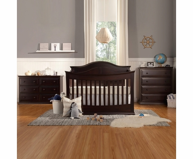 Davinci Meadow Convertible Crib 4 Drawer And 6 Double Dresser In Dark Java