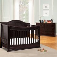 DaVinci Meadow 4-in-1 Convertible Crib and 6 Drawer Double Dresser in Dark Java