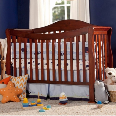 davinci parker 4 in 1 convertible crib in cherry k5101c free shipping rh simplybabyfurniture com DaVinci Parker Crib Oak DaVinci Parker Crib in Coffee