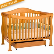 DaVinci Parker Convertible Crib with Toddler Rail in Oak
