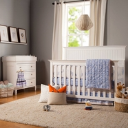 Davinci Perse 2 Piece Nursery Set - Perse 3-in-1 Convertible Crib and 3 Drawer Changer in White