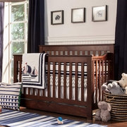 Naturepedic Organic Cotton Waterproof Crib Pad Fitted 69 DaVinci Piedmont 4-in-1 Convertible Crib with Toddler Rail in Espresso ...