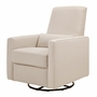 DaVinci Piper All-Purpose Upholstered Recliner in Cream Finish with Cream Piping