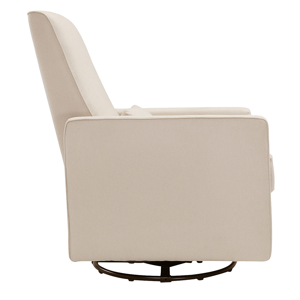 Awesome Davinci Piper All Purpose Upholstered Recliner In Cream Finish With Cream Piping Machost Co Dining Chair Design Ideas Machostcouk