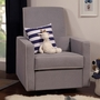 DaVinci Piper All-Purpose Upholstered Recliner in Grey Finish with Cream