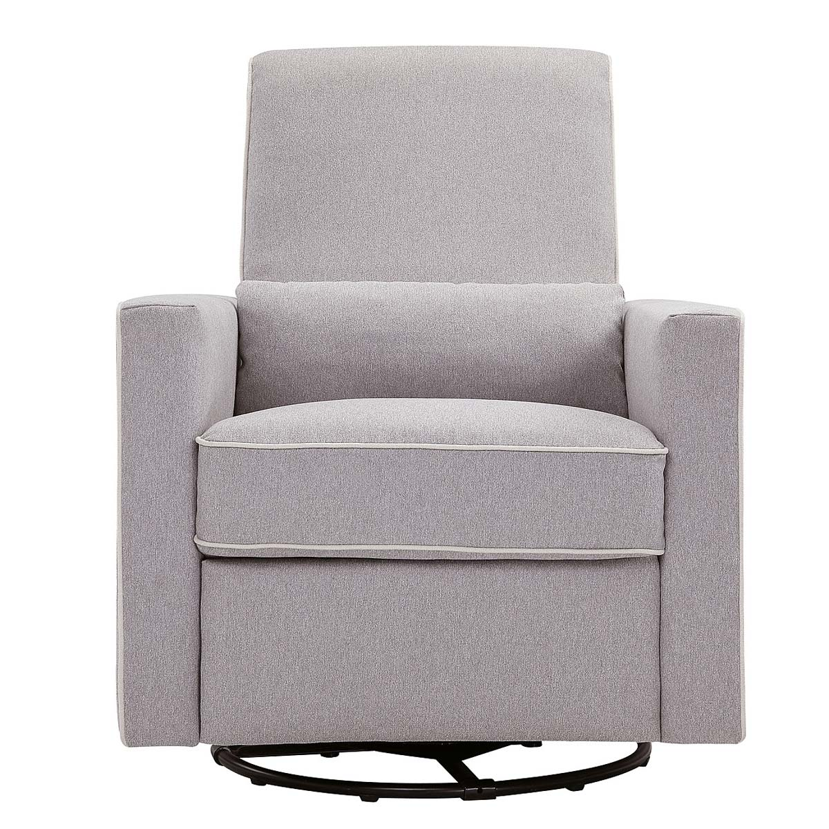 DaVinci Piper All Purpose Upholstered Recliner In Grey Finish With Cream  FREE SHIPPING