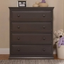 Davinci Signature 4 Drawer Tall Dresser in Slate