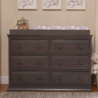 Davinci Signature 6 Drawer Double Dresser In Slate Click To Enlarge