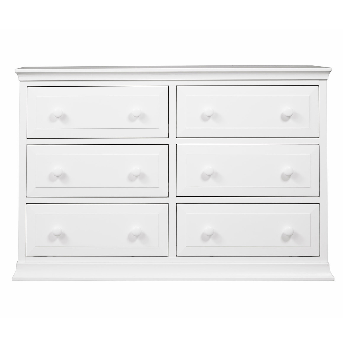 Dresser Dimensions davinci signature 6-drawer double dresser in white free shipping