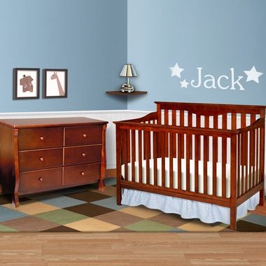 Delta 2 Piece Nursery Set Harlow 4 In 1 Convertible Crib And Canton 6 Drawer
