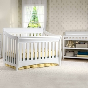 Delta Bentley 2 Piece Nursery Set - Convertible Crib and Changing Table in White