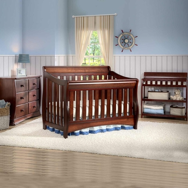 Set   Convertible Crib, Changing Table And 6 Drawer Dresser In Black