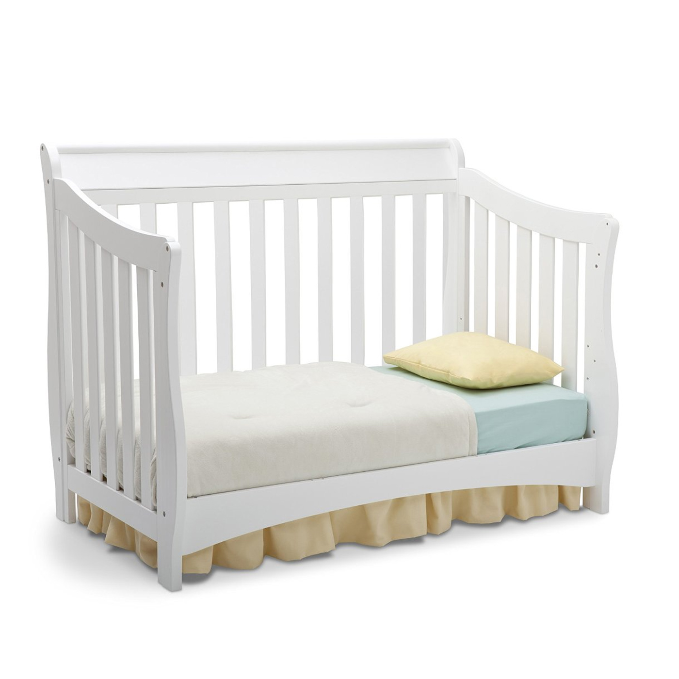 Delta Bentley 3 Piece Nursery Set Convertible Crib Changing Table And 6 Drawer Dresser In White Free Shipping