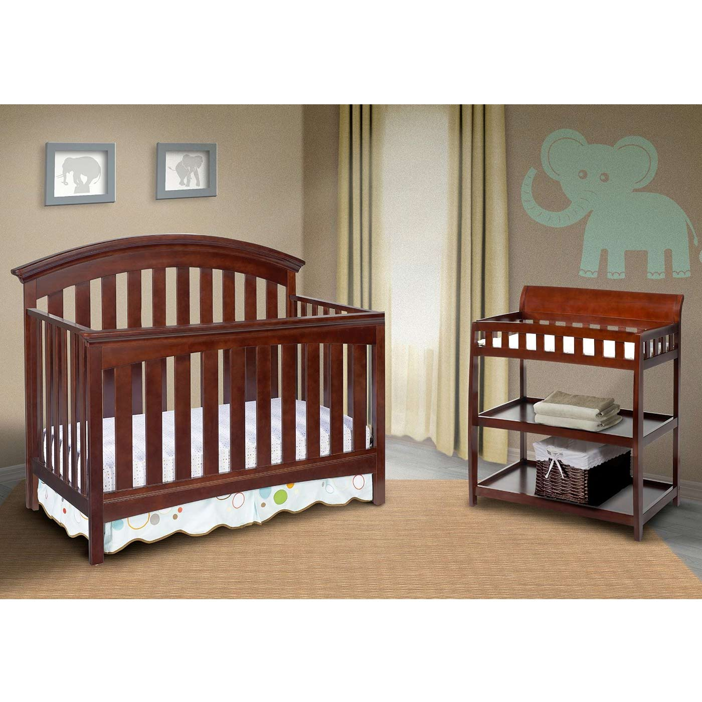 Delta Children Bentley Changing Table in Chocolate FREE SHIPPING