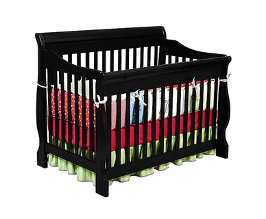 Delta Canton 4 in 1 Convertible Crib in Black