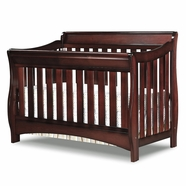 Delta Children Bentley 'S' Series 4-in-1 Crib in Black Cherry